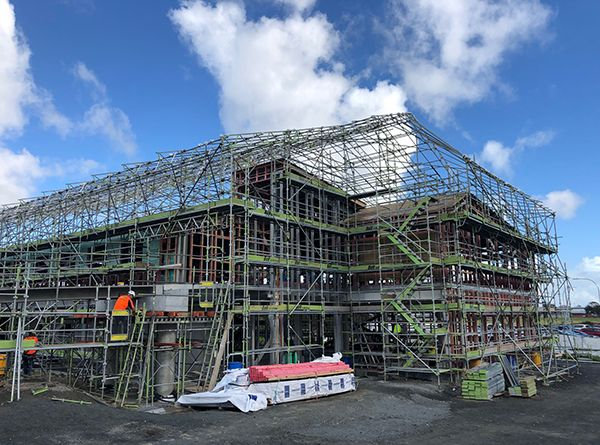 Dental School Shrinkwrapping - Bell Scaffolding - High-end Commercial and Light Industrial Scaffolders