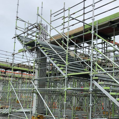 ORMISTON COMMERCIAL STAIR ACCESS - Bell Scaffolding - High-end Commercial and Light Industrial Scaffolders