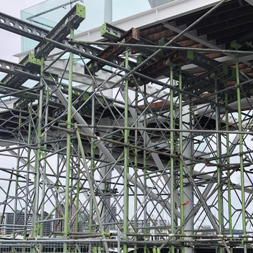 VIADUCT EVENTS CENTER SHORELOADING - Bell Scaffolding - High-end Commercial and Light Industrial Scaffolders